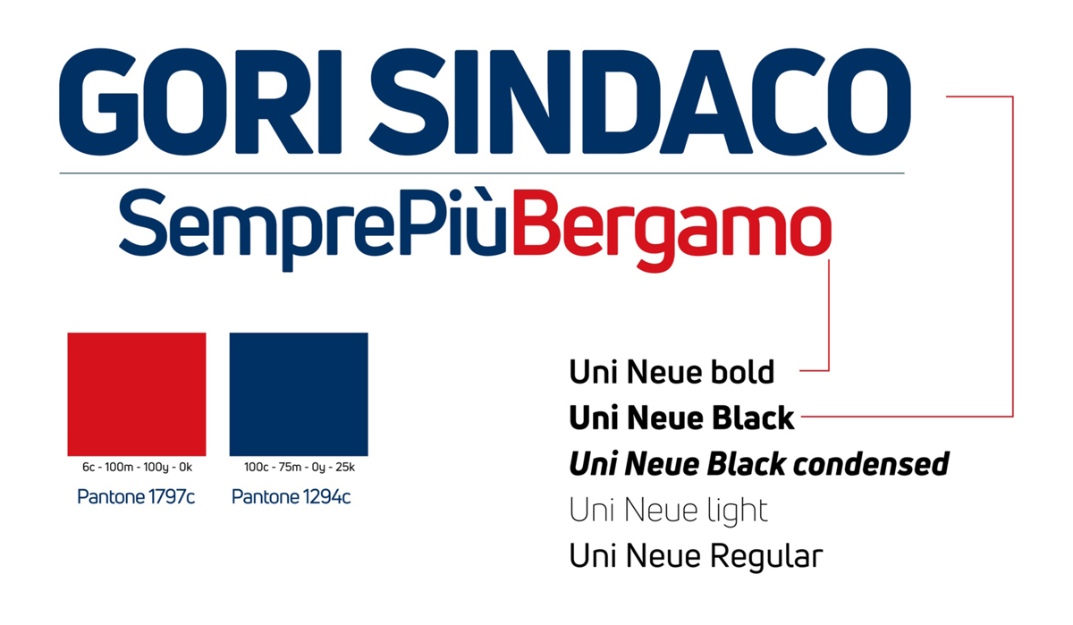 Il claim package «Gori Sindaco – SemprePiùBergamo»