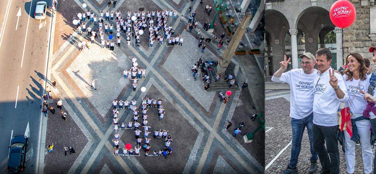 Lo spettacolare flashmob nella centralissima piazza Vittorio