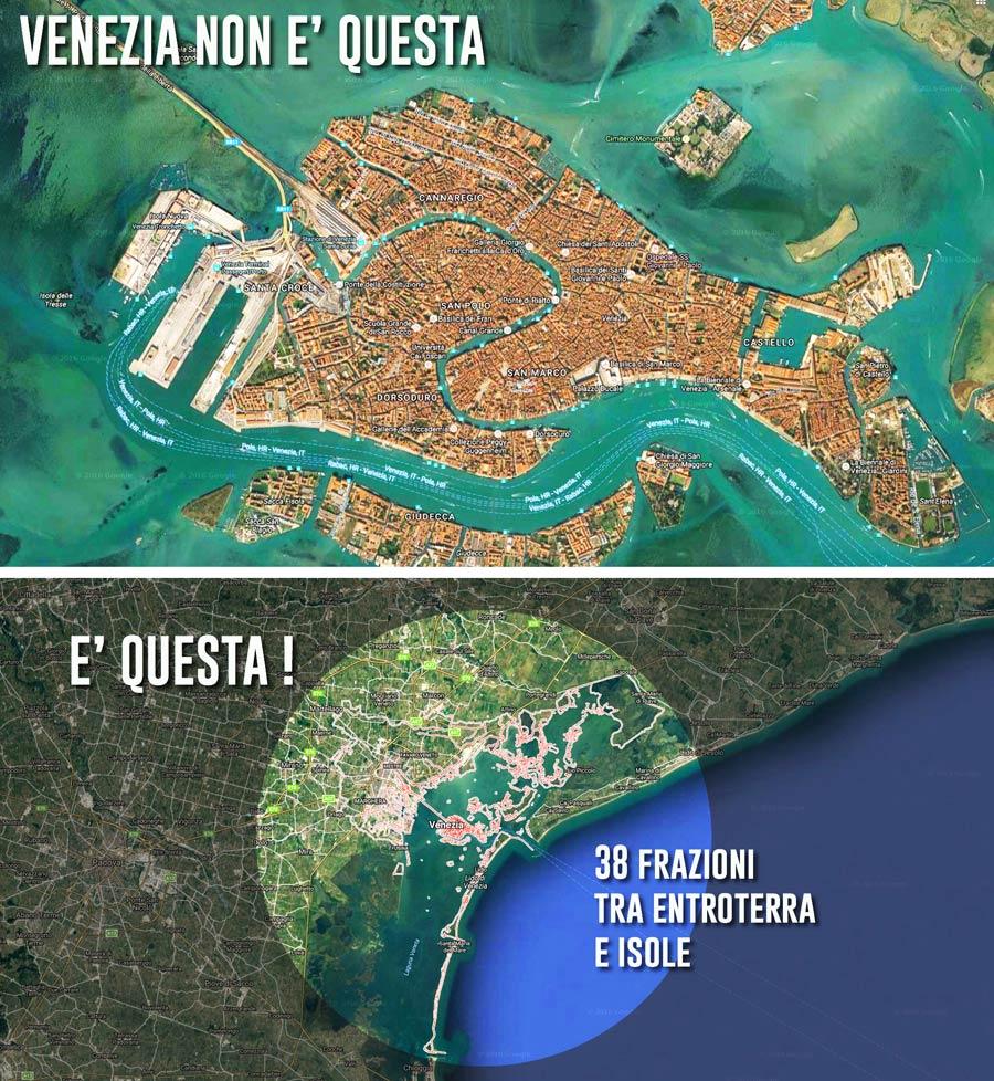 La geo-complessità del territorio comunale di Venezia