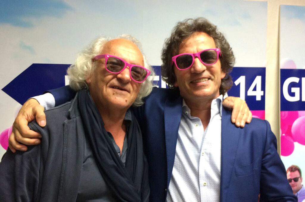 Io e Paolo Bettio di Attiva Spa, l'agenzia di pubblicità del gruppo di Brugnaro