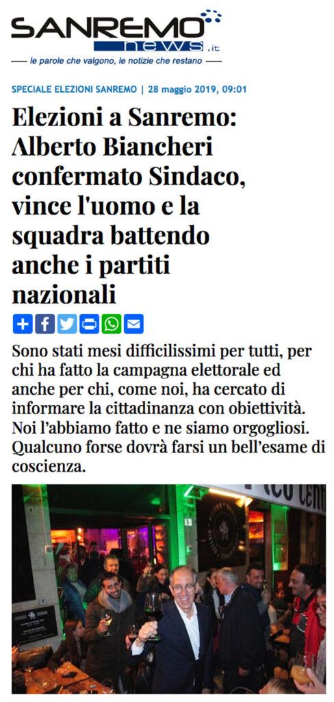 L'articolo di SanremoNews