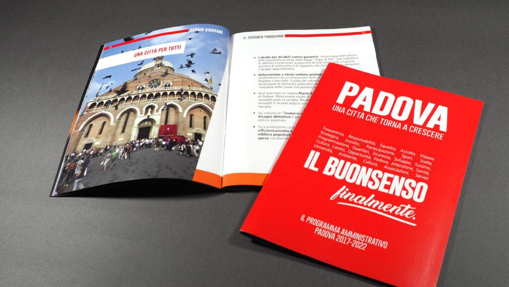 La brochure di programma della coalizione di Giordani inviata ai cittadini