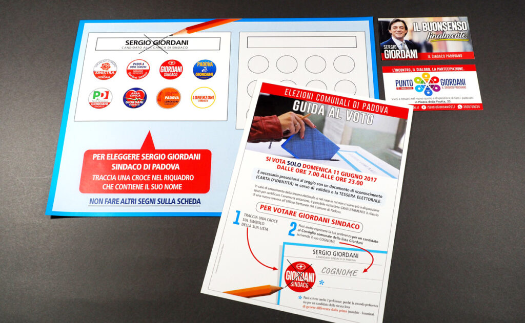 """Il pieghevole """"guida al voto"""" con le istruzioni e il facsimile della scheda elettorale"""