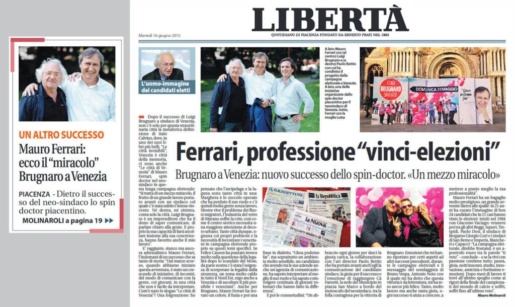 Libertà, il giornale della mia città, mi dedica un bel pezzo