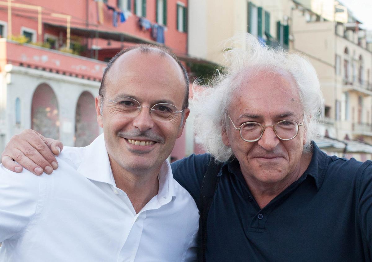 Carlo Capacci (a sinistra) con me a Imperia