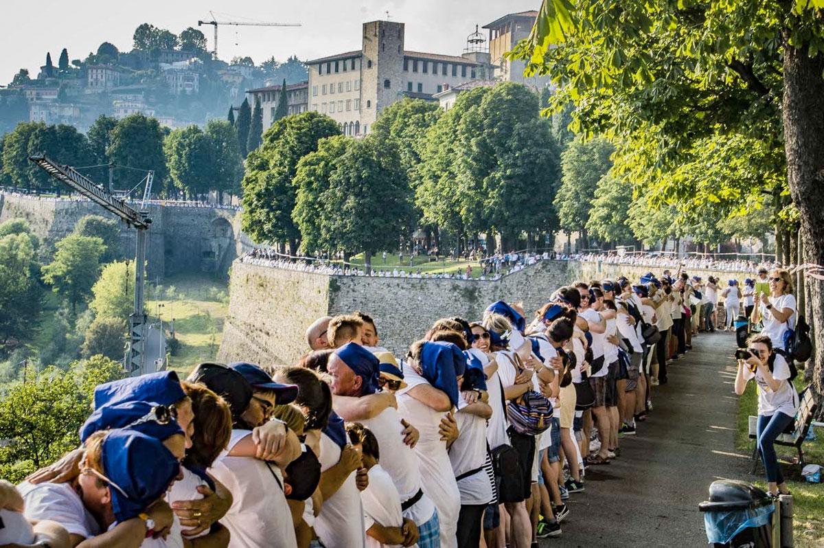 L'abbraccio delle mura di Bergamo