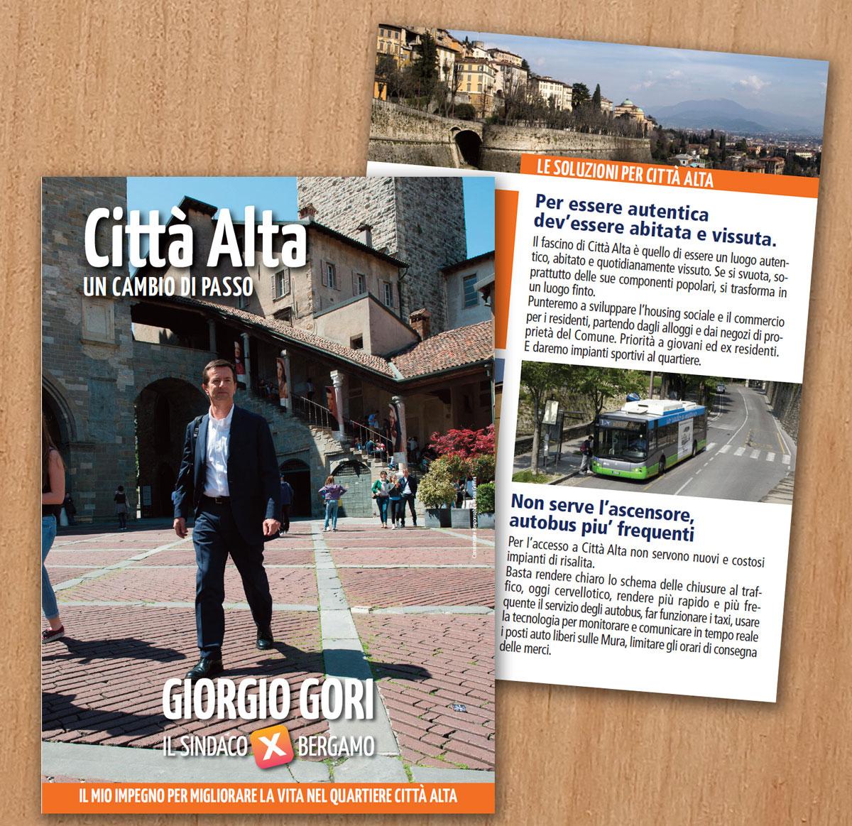 La scheda programma per Città Alta