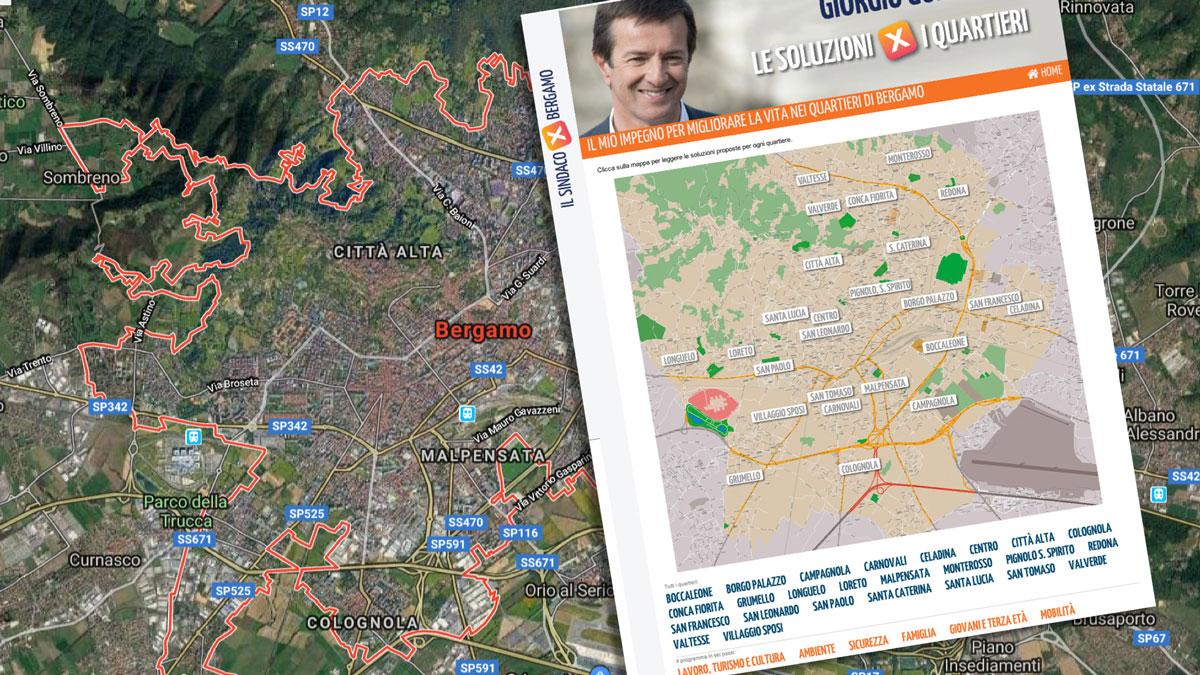 Geolocalizzazione dei programmi di quartiere sul sito web
