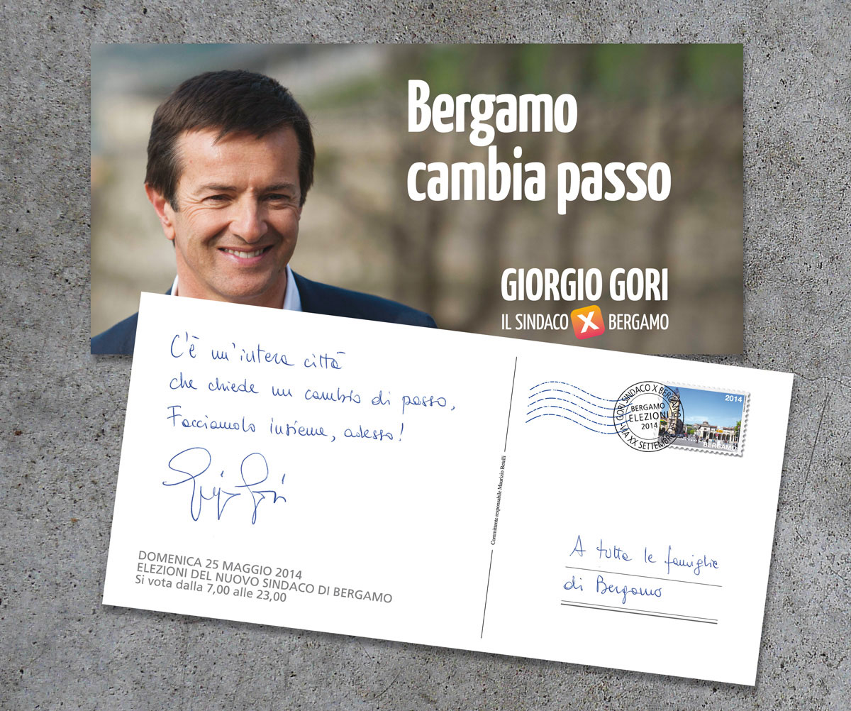 L'ultima cartolina alle famiglie di Bergamo