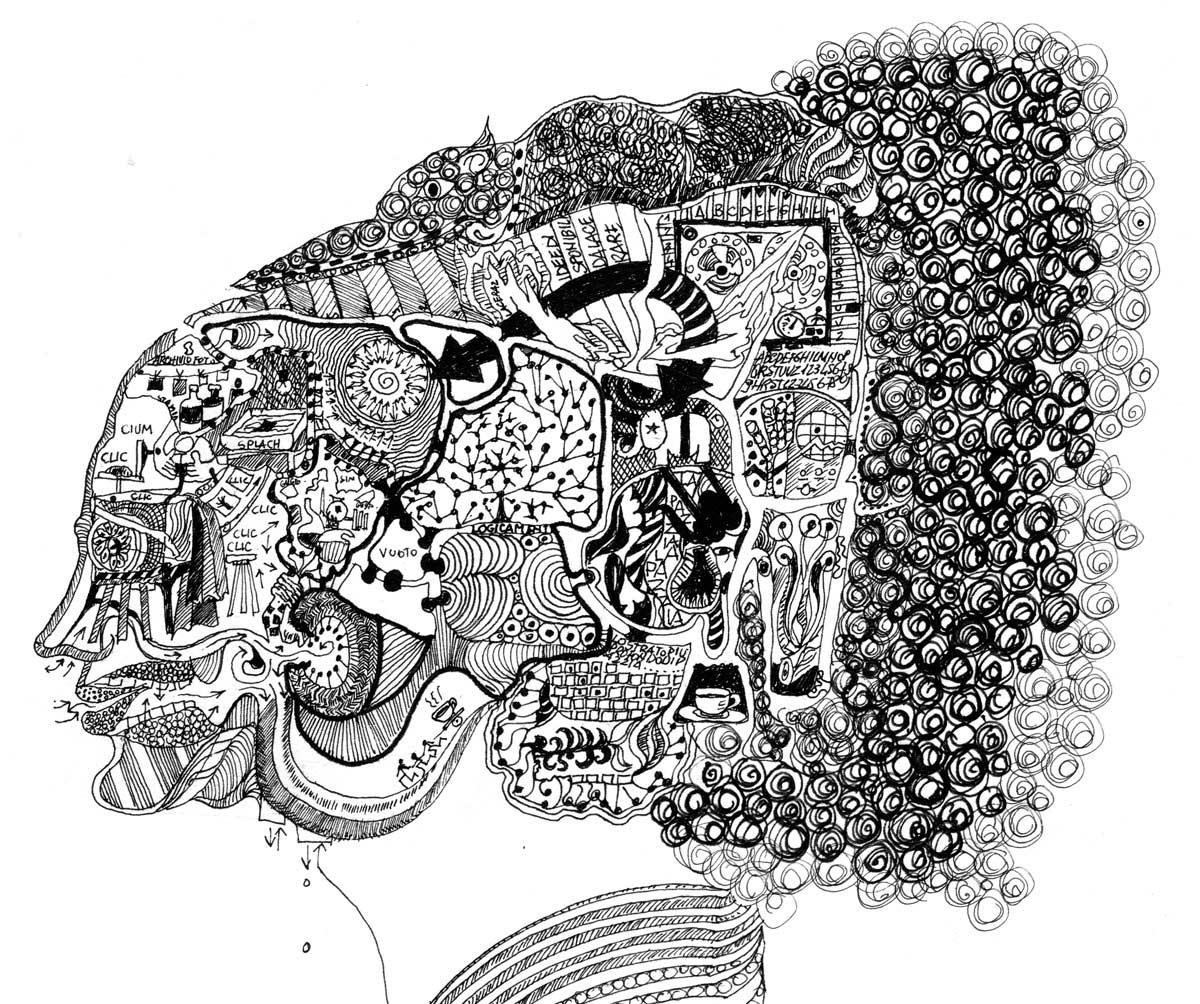 Il cervello in un mio disegno del 1971
