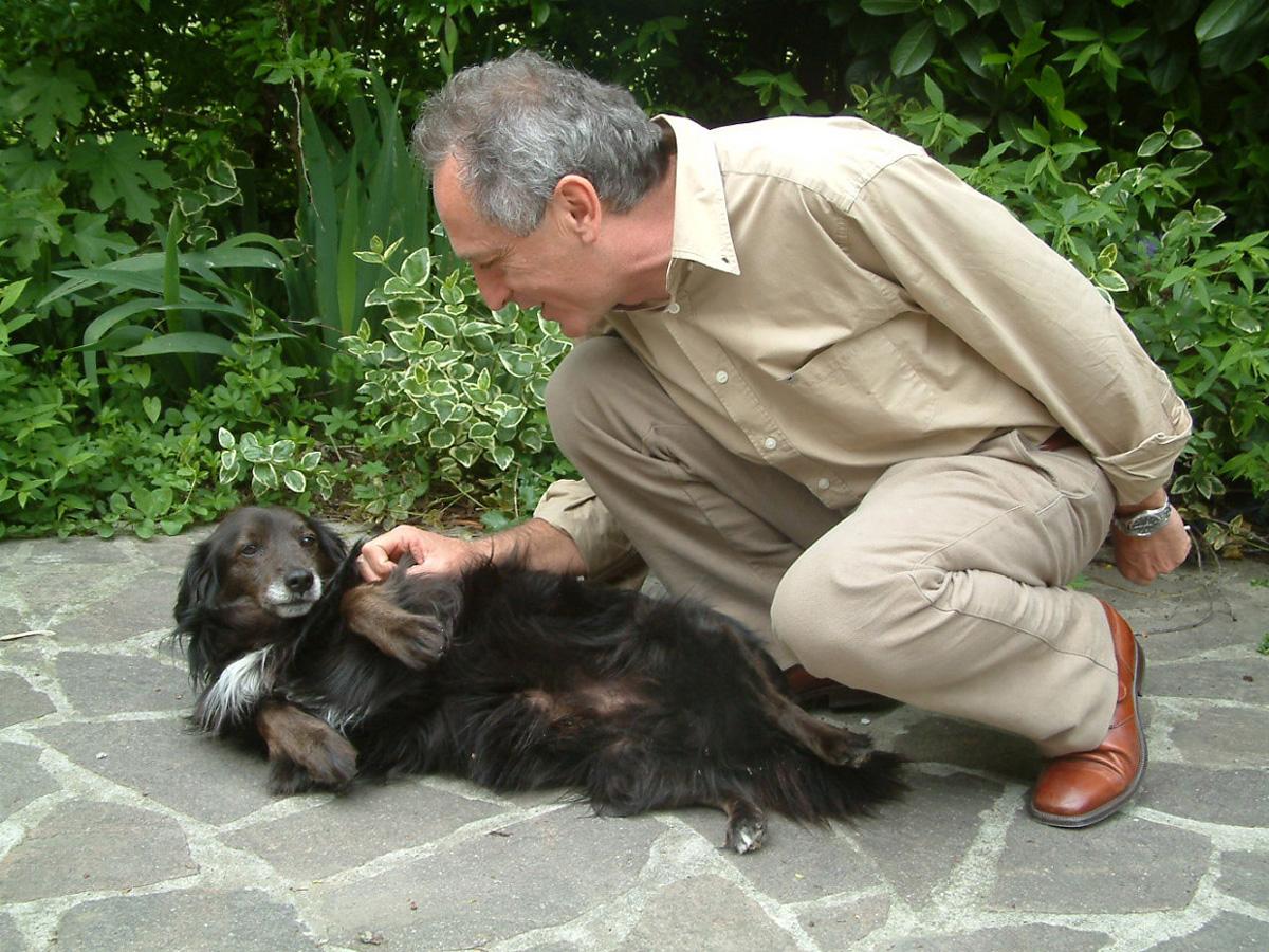 Il candidato Boiardi con il cane Ercole