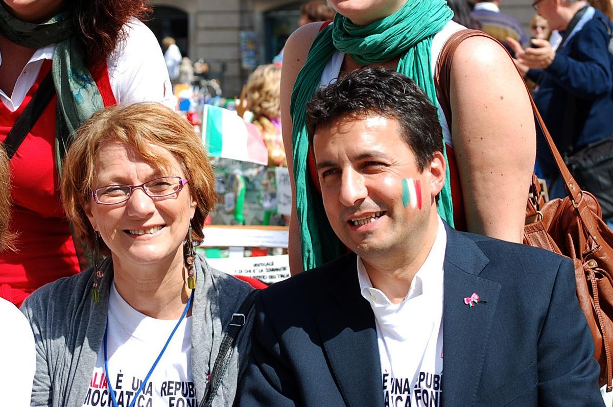 Renza Malchiodi con Roberto Reggi